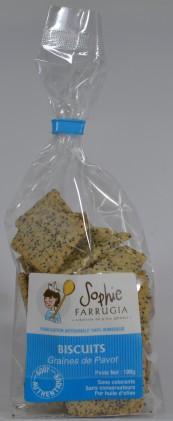 Biscuits salés  aux graines de Pavot
