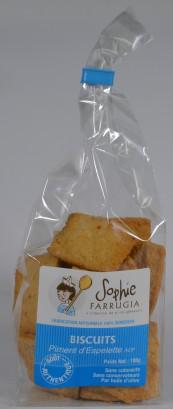 Biscuits salés au Piment d'Espelette AOP